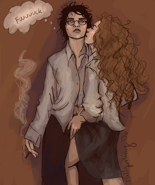 naked hermione from potter harry Midna true form x link lemon